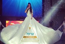 שמלה מתנפחת לאירועים , שמלה מתנפחת לבת מצווה , שמלה לבנה גדולה לאירועים